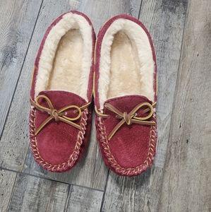 Lamo suede fleece lined slippers